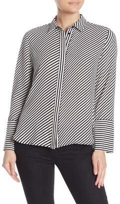 Anne Klein Extended Slit Cuff Long Sleeve Blouse