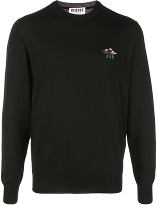 Versus Spaceship Embroidered Jumper