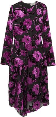 Preen by Thornton Bregazzi Alyssa Draped Devore-chiffon Dress