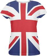 Old Glory British Flag Union Jack All Over Womens T Shirt Multi MD