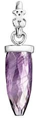 Tous Sterling Silver Amethyst Prisma Pendant