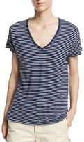 Vince Striped V-Neck Tee