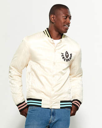 ICECREAM Patch Logo Varsity Bomber Jacket