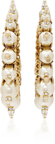 Erickson Beamon My One and Only Pearl Hoop Earrings