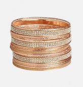 Avenue Glitter Rose Gold Bangle Set
