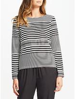 Minimum Honey Stripe Jersey Top, Black