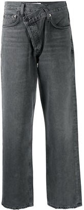 AGOLDE Criss Cross straight-leg jeans