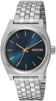 Nixon Women's 'Medium Time Teller' Quartz Metal and Stainless Steel Automatic Watch, Color:Silver-Toned (Model: A11302195-00)