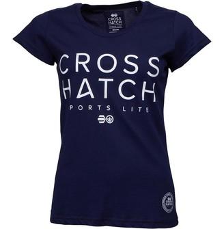 Crosshatch Womens Adrianna T-Shirt Peacoat
