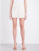 Area Mid-rise silk-satin skirt