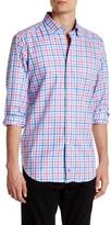 David Donahue Long Sleeve Plaid Regular Fit Shirt