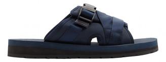 Prada Navy Cloth Sandals