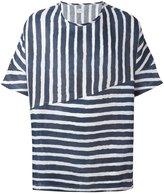 E. Tautz 'Collection' wide fit T-shirt - men - Linen/Flax - XS