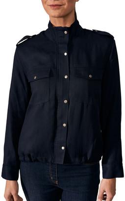 Blue Illusion Waisted Utility Jacket