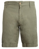 Faherty Straight-leg linen and cotton-blend shorts