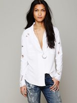 Free People Busy Bee Buttondown Shirt