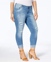 KUT from the Kloth Plus Size Connie Distressed Cropped Skinny Jeans