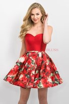 Blush Lingerie Floral Sweetheart Mikado A-Line Dress 11187
