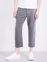 Diesel Rhial 0681D cropped straight stretch-cotton trousers