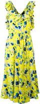 MSGM crossed back floral dress - women - Silk/Polyester - 42