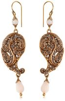 Etro Paisley Drop Earrings W/ Crystals