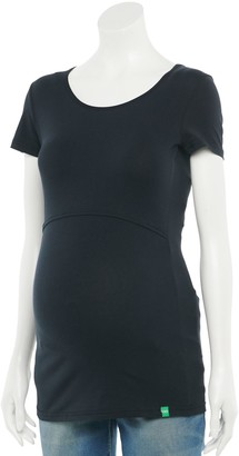 Modern Eternity Maternity Crewneck Short Sleeve Nursing Top