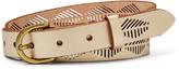 Fossil Diamond Stripe Perforated Belt