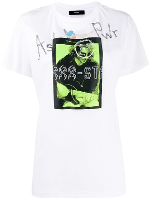 Diesel graphic patch T-shirt