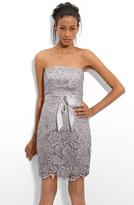 Strapless Lace Sheath Dress