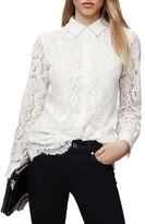 Reiss Yasi Collared Lace Top