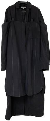 MATÉRIEL Black Wool Coat for Women