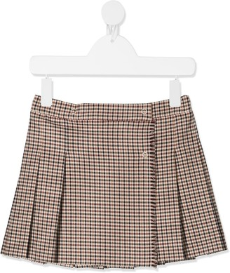Il Gufo Checked Pleated Skirt