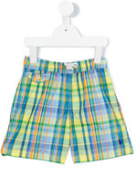 Polo Ralph Lauren checked swim shorts - kids - Polyester - 2 yrs
