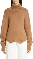 Monse Cowl Back Merino Wool Turtleneck Sweater