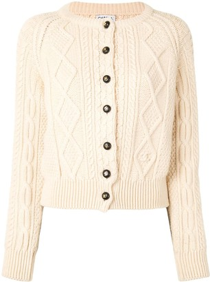 Chanel Pre Owned 1996 Cable Knit Cardigan