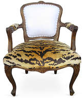 One Kings Lane Vintage 18th-C. French Armchair with Scalamandré
