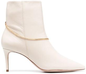 Schutz Detachable-Chain Ankle Boots