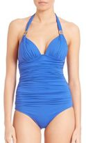 Elizabeth Hurley One-Piece Ruched Swimsuit