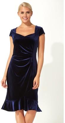 M&Co Roman Originals velvet sweetheart flute hem dress