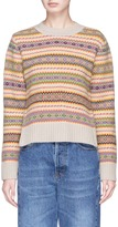 Stella McCartney 'Fair Isle' mosaic stripe virgin wool cardigan