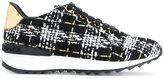 Casadei metallic detail woven sneakers