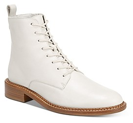 Off White Lace Up Boots | Shop the