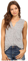Heather Linen Sleeveless Pocket Tee