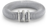 Alor 18K Gold Stainless Steel Diamond Accented Grey Coiled Bracelet - 0.26 ctw