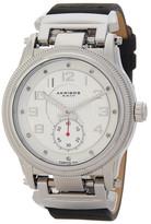 Akribos XXIV Men's Genuine Diamond Leather Strap Watch
