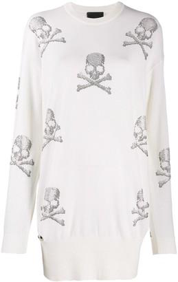Philipp Plein Skull jumper dress