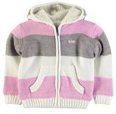 Lee Cooper Kids Striped Knitted Hoody Full Zip Hoodie Long Sleeve Infant Girls