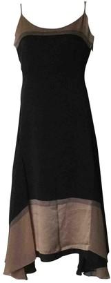 Martine Sitbon Black Silk Dress for Women