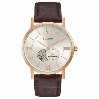 Bulova Men's Analog Automatic Watch with Stainless Steel Strap 97A150