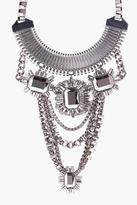 Boohoo Mya Embellished Chain Statement Necklace
